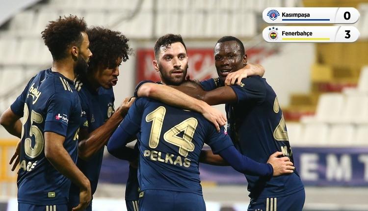 Kasımpaşa 0-3 Fenerbahçe maç özeti ve golleri İZLE