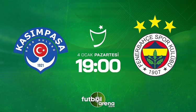 Kasımpaşa - Fenerbahçe maçı ilk 11'leri