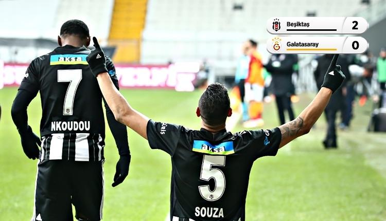 Lider Beşiktaş, Galatasaray derbisini 2 golle kazandı (İZLE)