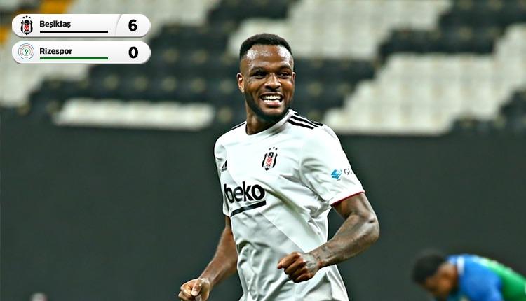 Lider Beşiktaş, Rizespor'u farklı geçti! Larin 4 gol (İZLE)