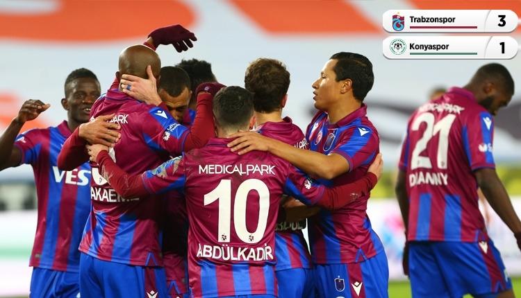 Trabzonspor 3-1 Konyaspor maç özeti ve golleri (İZLE)