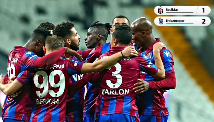 Trabzonspor, Vodafone Park'ta Beşiktaş'ı mağlup etti (İZLE)