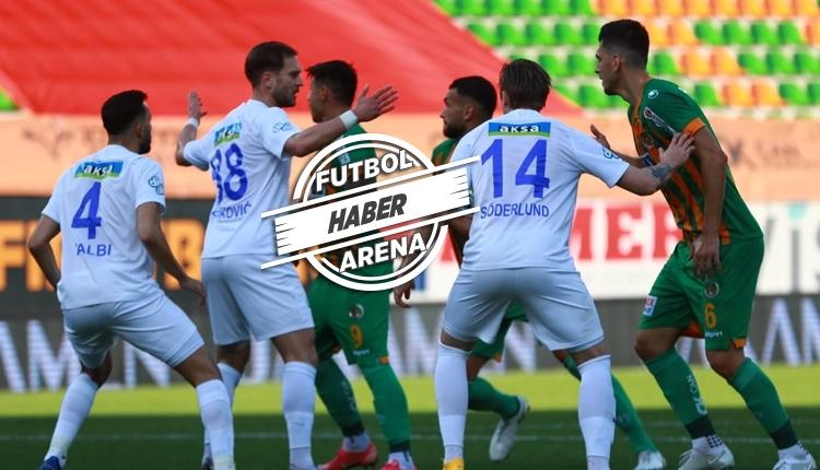 Alanyaspor 2-1 Rizespor maç özeti ve golleri (İZLE)