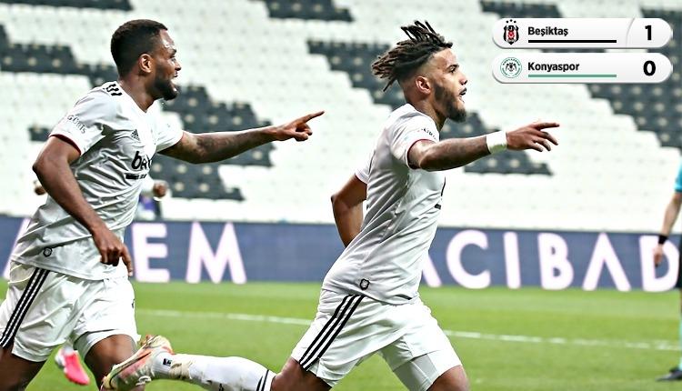 Beşiktaş, Konyaspor engelini 10 kişi ve tek golle geçti (İZLE)