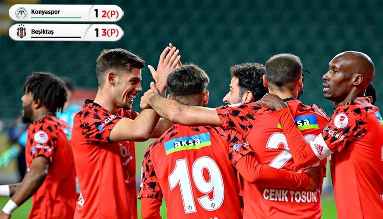 Beşiktaş yarı finalde! Konyaspor 1-1 Beşiktaş maç özeti (İZLE)