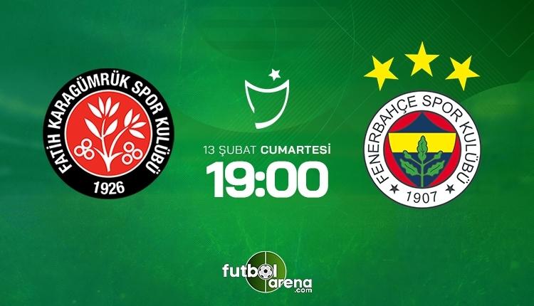Fatih Karagümrük-Fenerbahçe canlı izle, Fatih Karagümrük-Fenerbahçe şifresiz izle (Fatih Karagümrük-Fenerbahçe beIN Sports canlı ve şifresiz İZLE)
