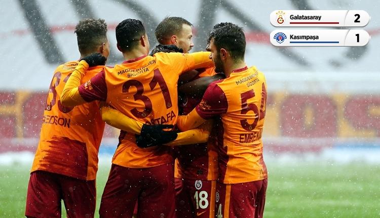 Galatasaray karlı maçta Kasımpaşa engelini geçti (İZLE)
