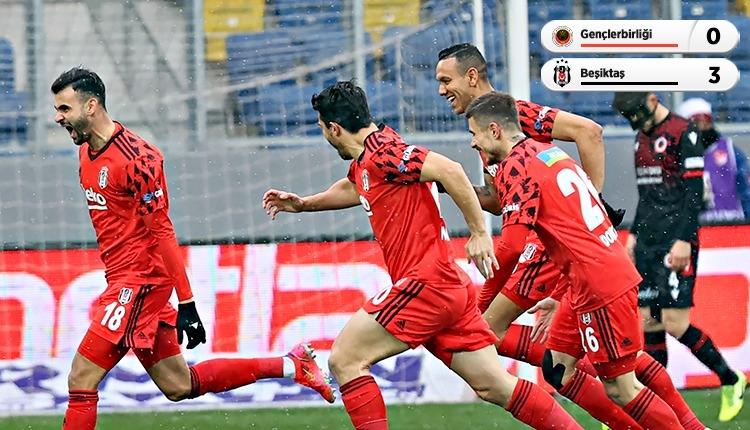 Gençlerbirliği 0-3 Beşiktaş maç özeti ve golleri (İZLE)