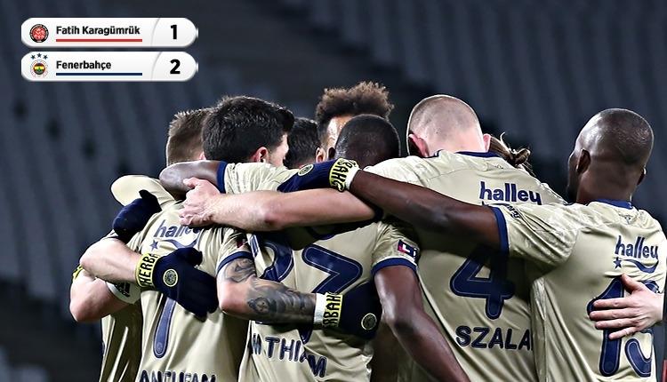 Karagümrük 1-2 Fenerbahçe maç özeti ve golleri (İZLE)