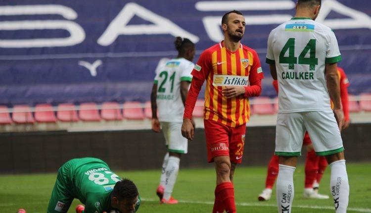 Kayserispor 1-1 Alanyaspor maç özeti ve golleri (İZLE)