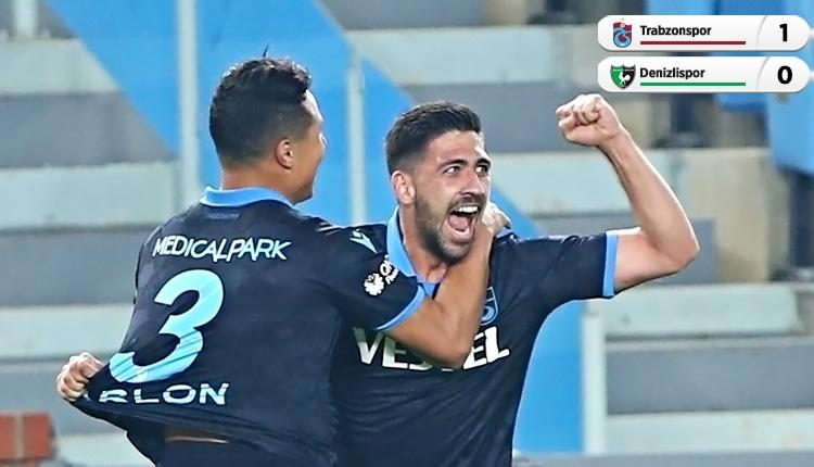 Trabzonspor 1-0 Denizlispor maç özeti ve golü (İZLE)