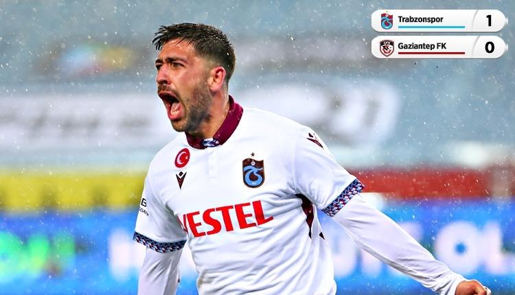 Trabzonspor 1-0 Gaziantep FK maç özeti ve golü (İZLE)