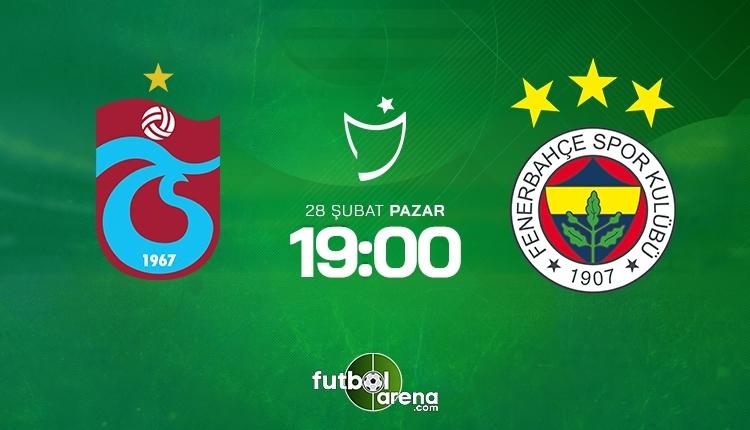 Trabzonspor-Fenerbahçe canlı izle, Trabzonspor-Fenerbahçe şifresiz İZLE (Trabzonspor-Fenerbahçe beIN Sports canlı ve şifresiz İZLE)