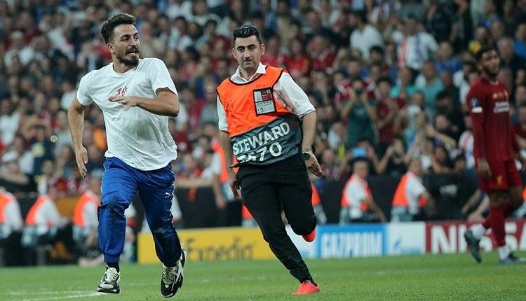 Vodafone Park'taki Süper Kupa finalinde sahaya giren sanığın cezası açıkladı