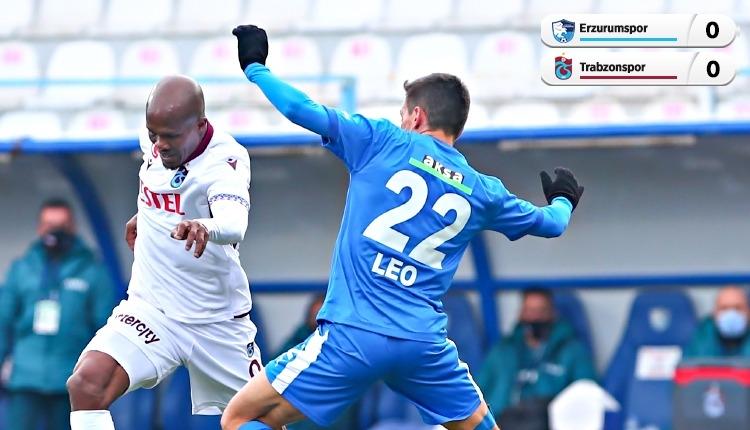 BB Erzurumspor 0-0 Trabzonspor maç özeti (İZLE)
