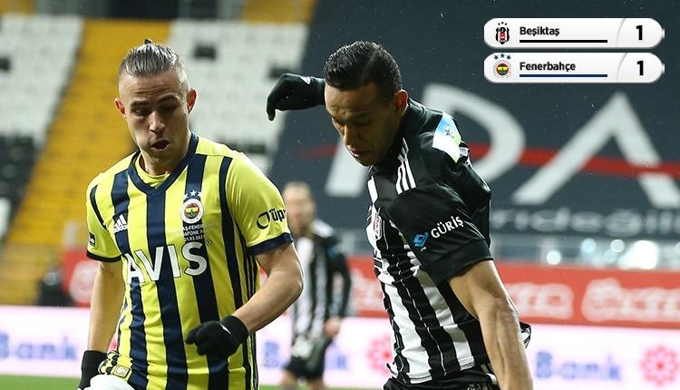 Beşiktaş 1-1 Fenerbahçe derbi maç özeti ve golleri (İZLE)
