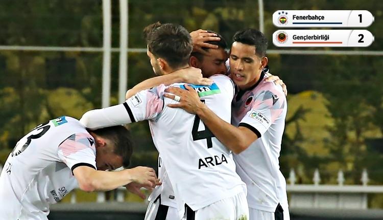 Fenerbahçe 1-2 Gençlerbirliği maç özeti ve golleri (İZLE)