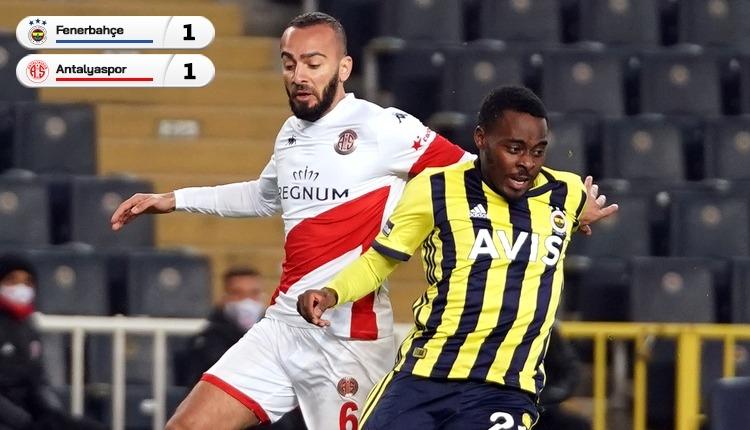 Fenerbahçe, Kadıköy'de Antalyaspor'a takıldı (İZLE)