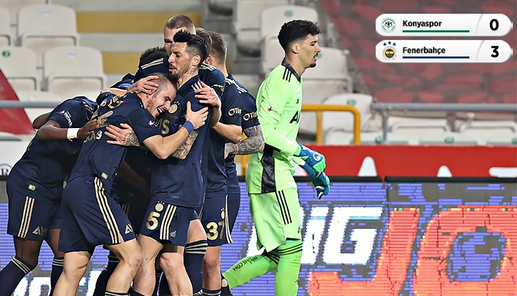 Fenerbahçe, Konyaspor deplasmanından galip döndü (İZLE)