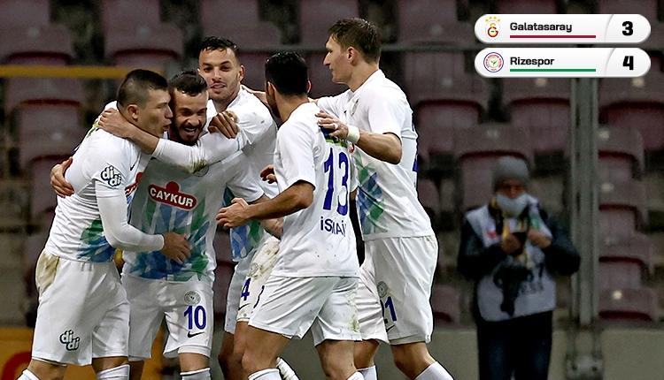 Galatasaray 7 gollü maçta Rizespor'a kaybetti (İZLE)