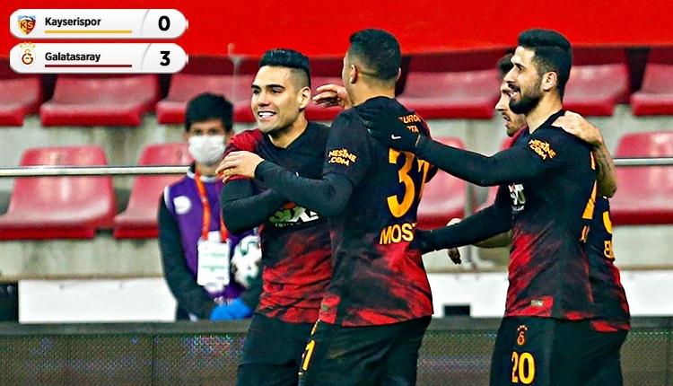 Galatasaray, Kayserispor deplasmanında 3 golle kazandı (İZLE)