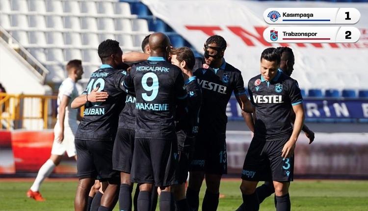 Kasımpaşa 1-2 Trabzonspor maç özeti ve golleri (İZLE)