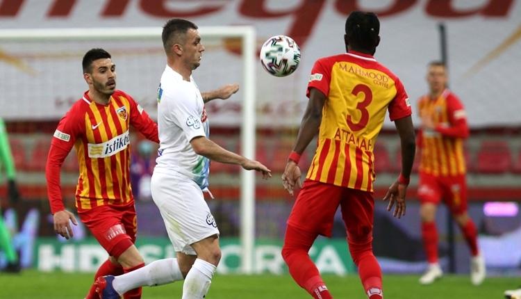 Kayserispor 2-1 Çaykur Rizespor maç özeti ve golleri (İZLE)