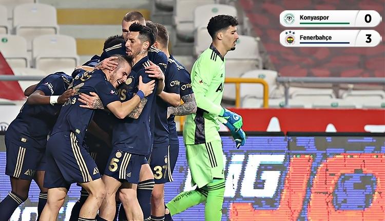 Konyaspor 0-3 Fenerbahçe maç özeti ve golleri (İZLE)