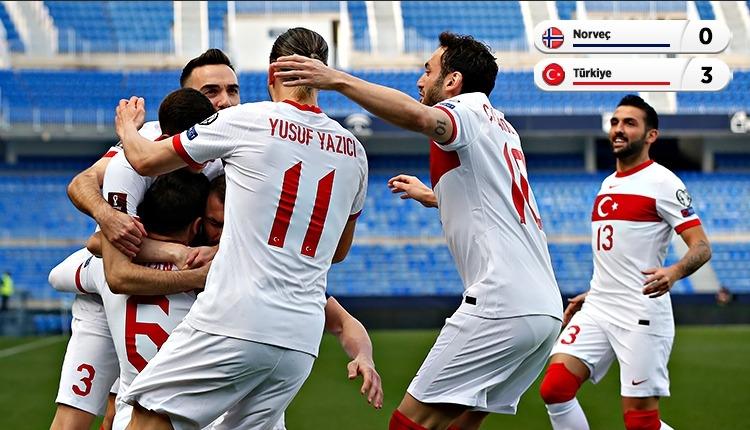 Norveç 0-3 Türkiye maç özeti ve golleri (İZLE)