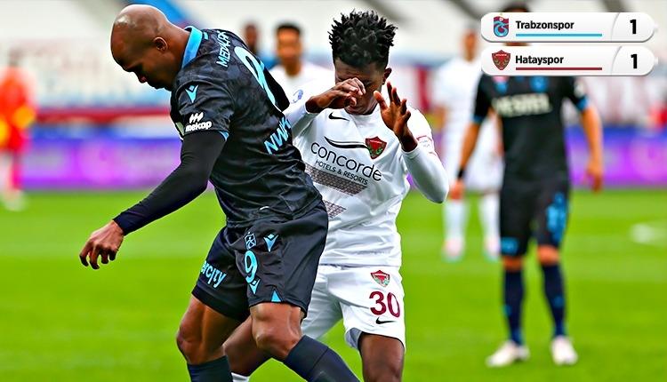 Trabzonspor 1-1 Hatayspor maç özeti ve golleri (İZLE)