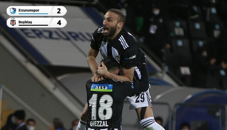 BB Erzurumspor 2-4 Beşiktaş maç özeti ve golleri (İZLE)