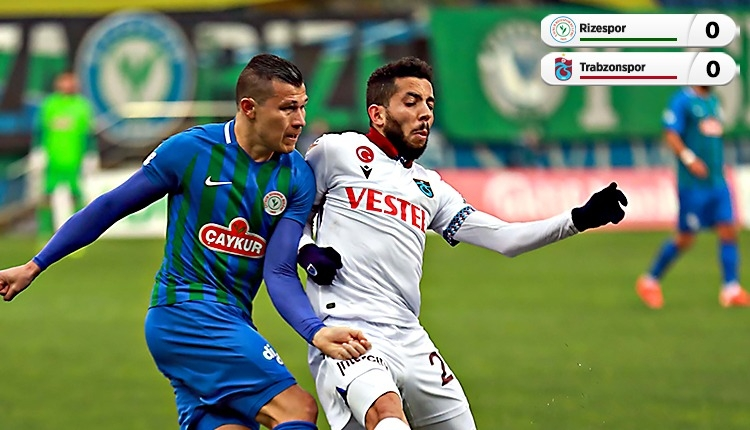 Çaykur Rizespor 0-0 Trabzonspor maç özeti (İZLE)