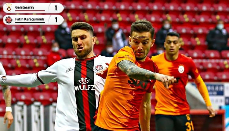 Galatasaray 1-1 Fatih Karagümrük maç özeti ve golleri (İZLE)