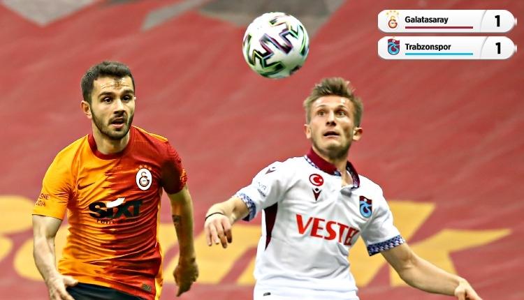 Galatasaray ile Trabzonspor puanları paylaştı! Uzatma golü (İZLE)