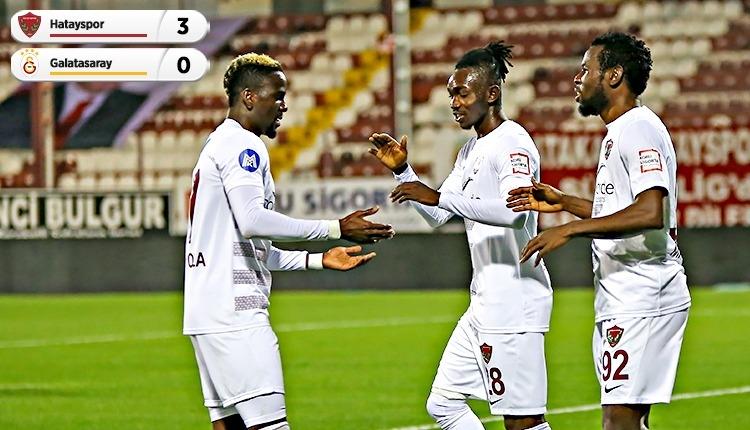Hatayspor 3-0 Galatasaray maç özeti ve golleri (İZLE)