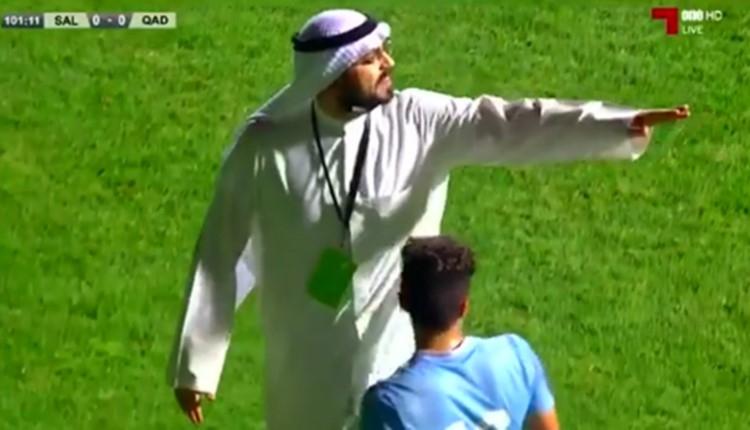 Kulüp başkanı sahayı bastı, penaltıyı iptal ettirdi!
