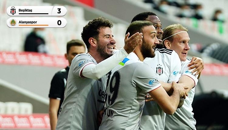 Lider Beşiktaş, Alanyaspor'u 3 golle geçti (İZLE)