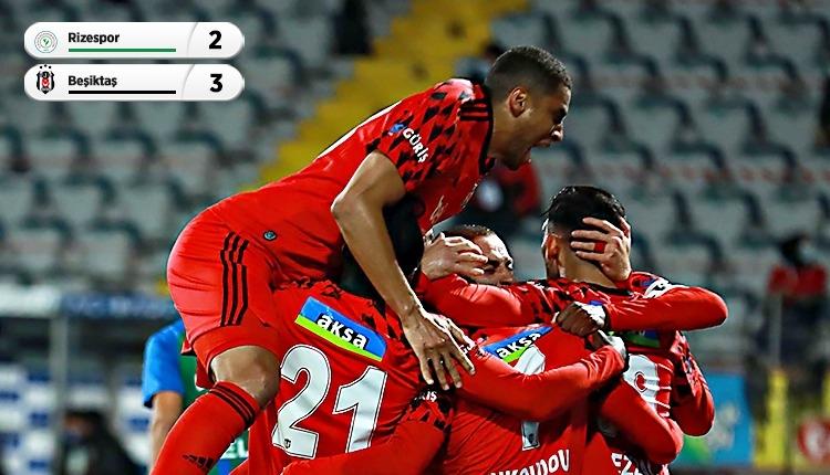 Lider Beşiktaş, Rize'de 3 golle kazandı (İZLE)