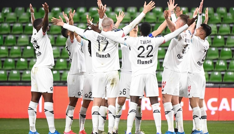 Lider Lille, Burak Yılmaz ve Zeki Çelik'in golleriyle kazandı (İZLE)
