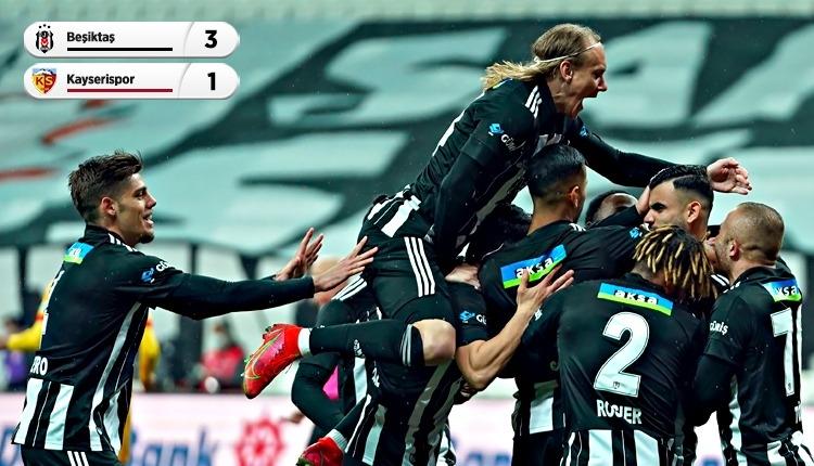 Lider ve eksik Beşiktaş, Kayserispor engelini geçti (İZLE)