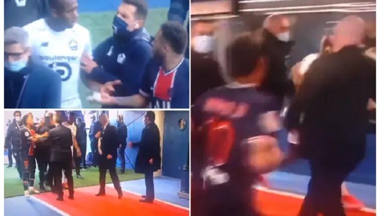 PSG - Lille maç sonu kavga! Neymar ile Tiago