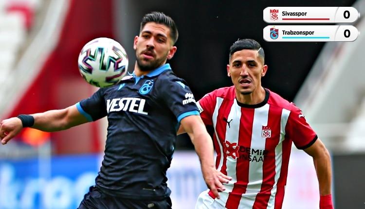Sivasspor 0-0 Trabzonspor maç özeti (İZLE)