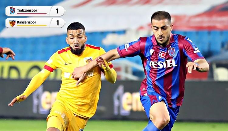 Trabzonspor 1-1 Kayserispor maç özeti ve golleri