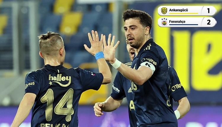 Ankaragücü 1-2 Fenerbahçe maç özeti ve golleri (İZLE)