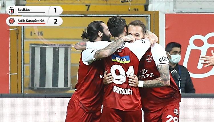 Beşiktaş 1-2 Fatih Karagümrük maç özeti ve golleri (İZLE)