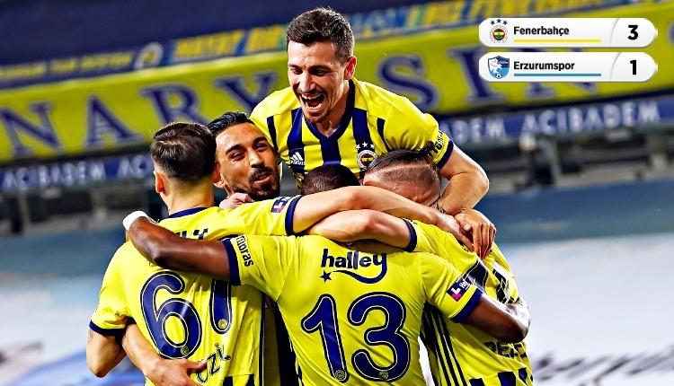 Fenerbahçe, Kadıköy'de Erzurumspor'u 3 golle geçti (İZLE)