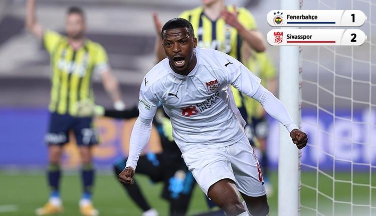 Fenerbahçe, Kadıköy'de Sivasspor'a mağlup oldu (İZLE)