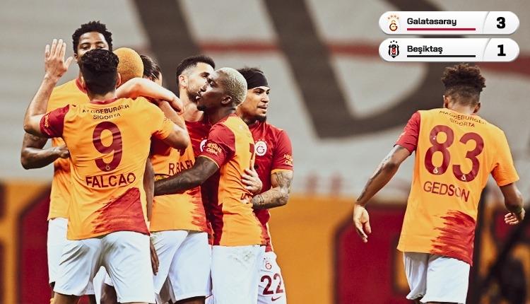 Galatasaray 3-1 Beşiktaş maç özeti ve golleri (İZLE)