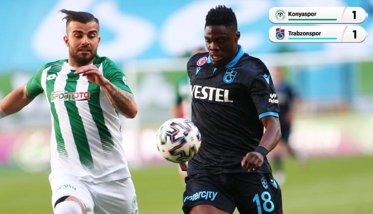 Konyaspor 1-1 Trabzonspor maç özeti ve golleri (İZLE)