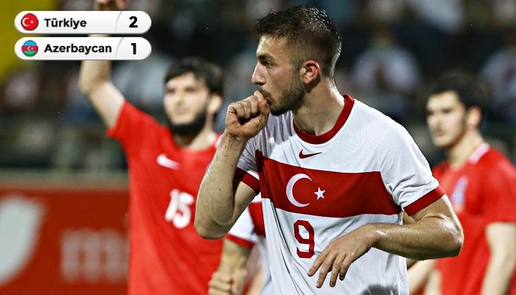 Türkiye hazırlık maçında Azerbaycan'ı 2 golle geçti (İZLE)